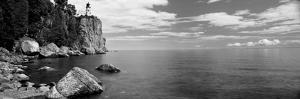 Lighthouse on a Cliff, Split Rock Lighthouse, Lake Superior, Minnesota, USA