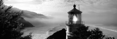 Lighthouse on a Hill, Heceta Head Lighthouse, Heceta Head, Lane County, Oregon, USA--Photographic Print