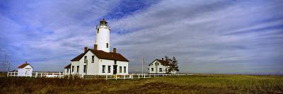 Lighthouse on a Landscape, Dungeness Lighthouse, Dungeness Spit, Olympic Peninsula--Photographic Print