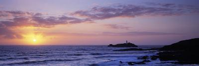 Lighthouse on an Island, Godrevy Lighthouse, Godrevy, Cornwall, England--Photographic Print