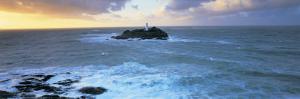 Lighthouse on an Island, Godvery Lighthouse, Hayle, Cornwall, England