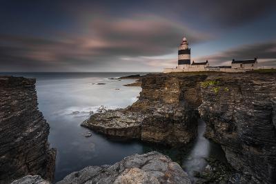 Lighthouse on Cliffs-Grzegorz Wanowicz-Photographic Print