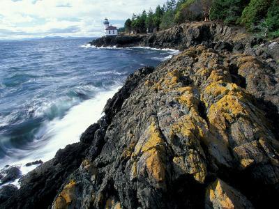 Lighthouse on Coast, Port Townsend, Washington, USA-William Sutton-Photographic Print