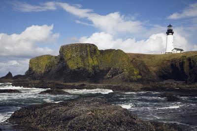 Lighthouse on Coastal Cliff-Design Pics Inc-Photographic Print