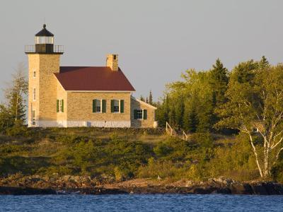 Lighthouse on Lake Superior, Copper Harbor, Michigan, USA-Chuck Haney-Photographic Print