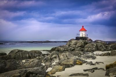 Lighthouse on Rocks-Marco Carmassi-Photographic Print