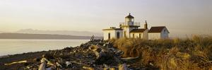 Lighthouse on the Beach, West Point Lighthouse, Seattle, King County, Washington State, USA