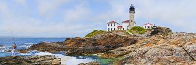 Lighthouse on the Coast, Beavertail Lighthouse, Narragansett Bay, Jamestown Island--Photographic Print