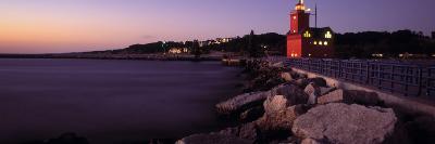 Lighthouse on the Coast, Big Red Lighthouse, Holland, Michigan, USA--Photographic Print