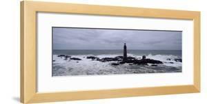 Lighthouse on the Coast, Graves Light, Boston Harbor, Massachusetts, USA