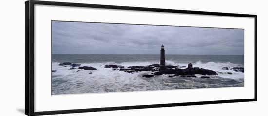 Lighthouse on the Coast, Graves Light, Boston Harbor, Massachusetts, USA--Framed Photographic Print