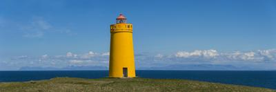 Lighthouse on the Coast, Holmbergsviti Lighthouse, Keflavik, Iceland--Photographic Print