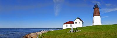 Lighthouse on the Coast, Point Judith Lighthouse, Narragansett Bay, Rhode Island, USA--Photographic Print