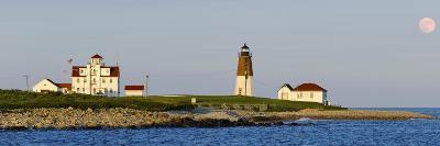 Lighthouse on the Coast, Point Judith Lighthouse, Narragansett Bay, Washington County--Photographic Print