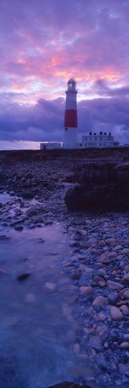 Lighthouse on the Coast, Portland Bill Lighthouse, Portland Bill, Dorset, England--Photographic Print