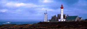 Lighthouse on the Coast, Saint Mathieu Lighthouse, Finistere, Brittany, France