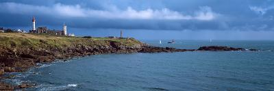 Lighthouse on the Coast, Saint Mathieu Lighthouse, Finistere, Brittany, France--Photographic Print