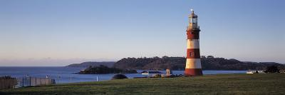 Lighthouse on the Coast, Smeaton's Lighthouse, Plymouth Hoe, Plymouth, Devon, England--Photographic Print