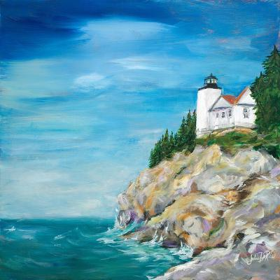 Lighthouse on the Rocky Shore II-Julie DeRice-Premium Giclee Print