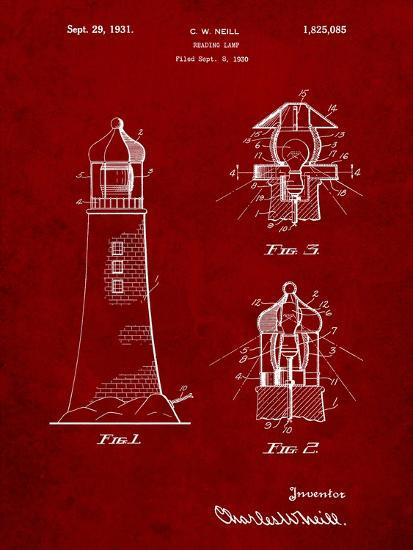Lighthouse patent art print by cole borders art lighthouse patentby cole borders malvernweather Image collections