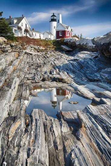 Lighthouse Reflection, Pemaquid Point, Maine-George Oze-Photographic Print
