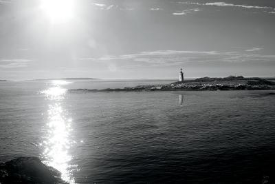 Lighthouse Sound Black and White-Sue Schlabach-Art Print