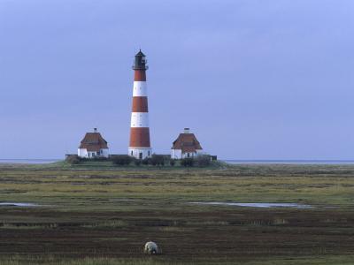 Lighthouse, Westerhever, Schleswig-Holstein, Germany-Thorsten Milse-Photographic Print