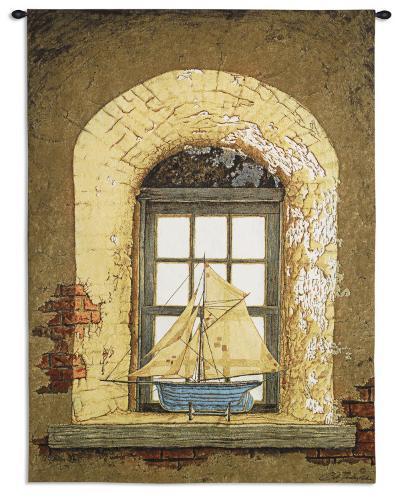 Lighthouse Window-Bob Timberlake-Wall Tapestry