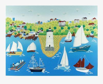 Lighthouse-Gisela Fabian-Serigraph