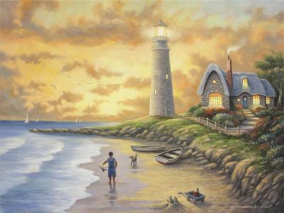 Lighthouse-John Zaccheo-Giclee Print