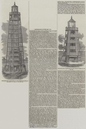 Lighthouses in the Red Sea--Giclee Print