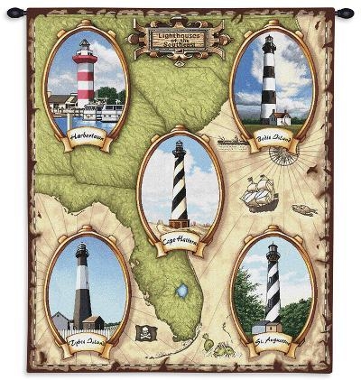 Lighthouses of the Southeast--Wall Tapestry