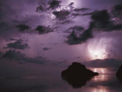 Lightning and Thunderstorm Over Sulu-Sulawesi Seas, Indo-Pacific Ocean-Jurgen Freund-Photographic Print