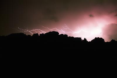 Lightning over Devil's Backbone, Loveland, Colorado-Keith Ladzinski-Photographic Print
