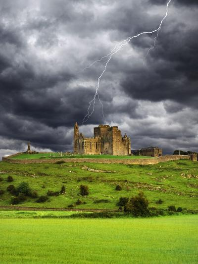 Lightning over Ruins of the Rock of Cashel, Tipperary County, Ireland-Jaynes Gallery-Photographic Print