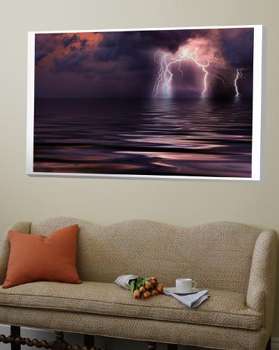 Lightning over the Sea--Loft Art