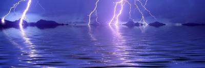 Lightning over the Sea--Photographic Print