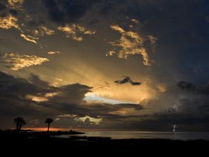 Lightning Storm Moves across Crystal Bay in Florida
