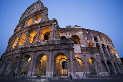 Lights in the Colosseum in the Evening-Matt Propert-Photographic Print