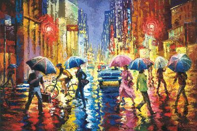 Lights in the Rain-Stanislav Sidorov-Art Print