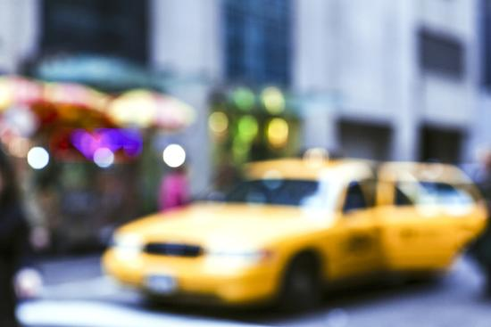 Lights of the City: Taxi-Arabella Studios-Premium Photographic Print