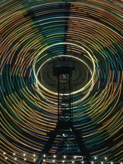 Lights of the Ferris-Wheel at the Royal Melbourne Agricultural Show, Melbourne,Victoria, Australia-Dallas Stribley-Photographic Print