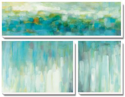 Lights on the Beach-Karen Lorena Parker-Canvas Art Set