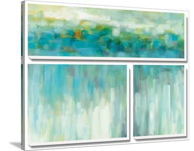 Lights on the Beach-Karen Lorena Parker-Stretched Canvas Print