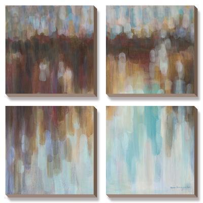 Lights On The Harbour-Karen Lorena Parker-Canvas Art Set