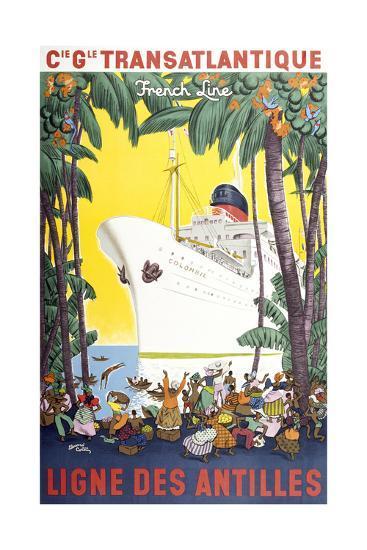 Ligne Des Antilles-Marcus Jules-Giclee Print
