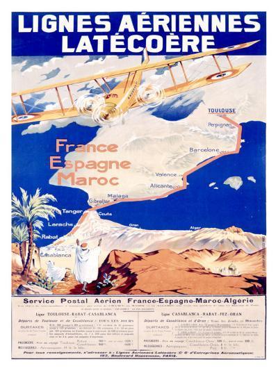 Lignes Aeriennes Latecoere--Giclee Print
