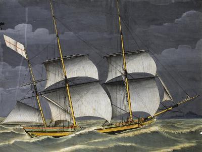 Ligurian Polacca under Windy Conditions, Tempera, 18th Century--Giclee Print