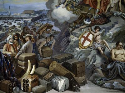 Ligurian Trade, Painting by Giuseppe Isola (1808-1893), Italy, 19th Century--Giclee Print