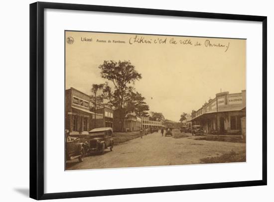 Likasi - Avenue De Kambove--Framed Photographic Print